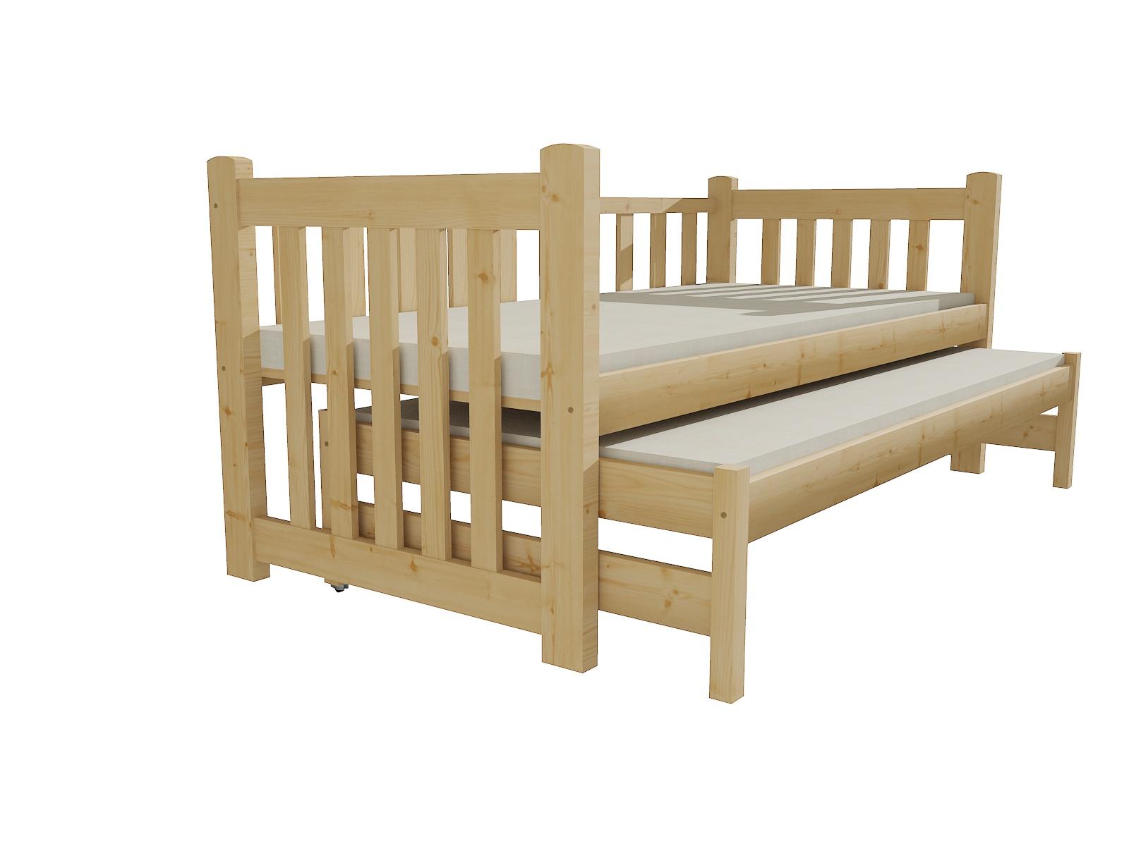 Dětská postel s výsuvnou přistýlkou DPV 002