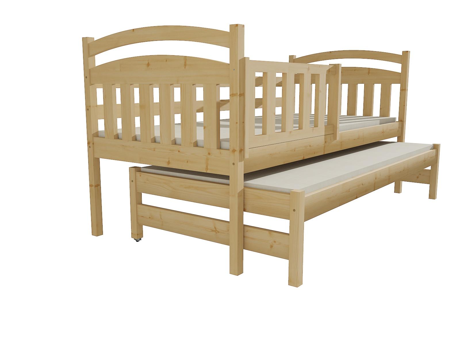Dětská postel s výsuvnou přistýlkou DPV 008