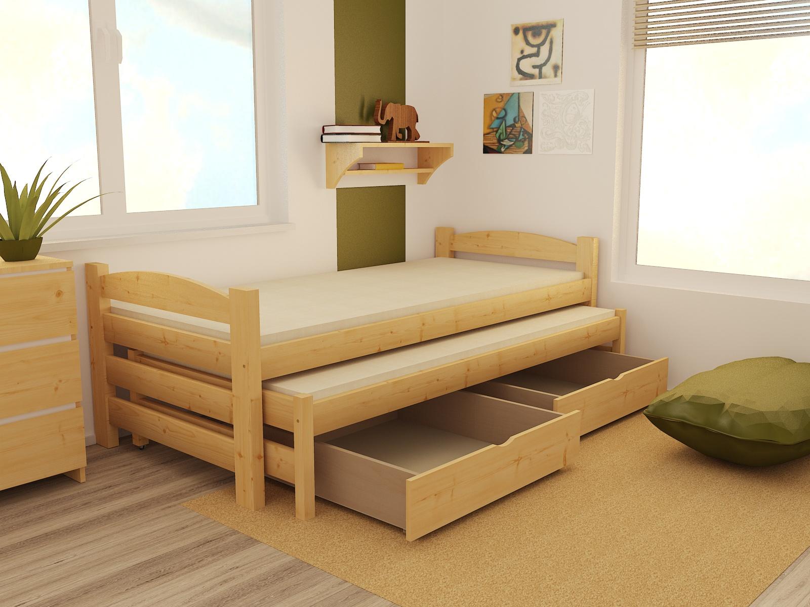 Dětská postel s výsuvnou přistýlkou DPV 009