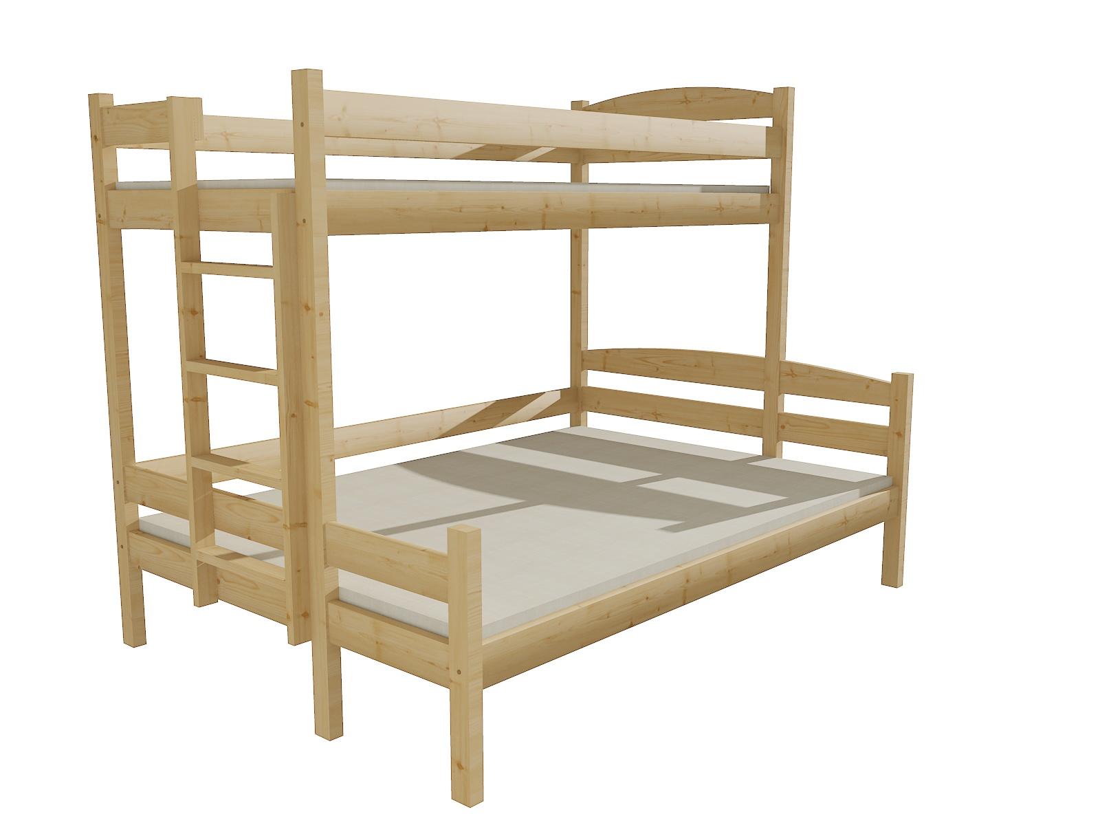 Patrová postel s rozšířeným spodním lůžkem PPS 001