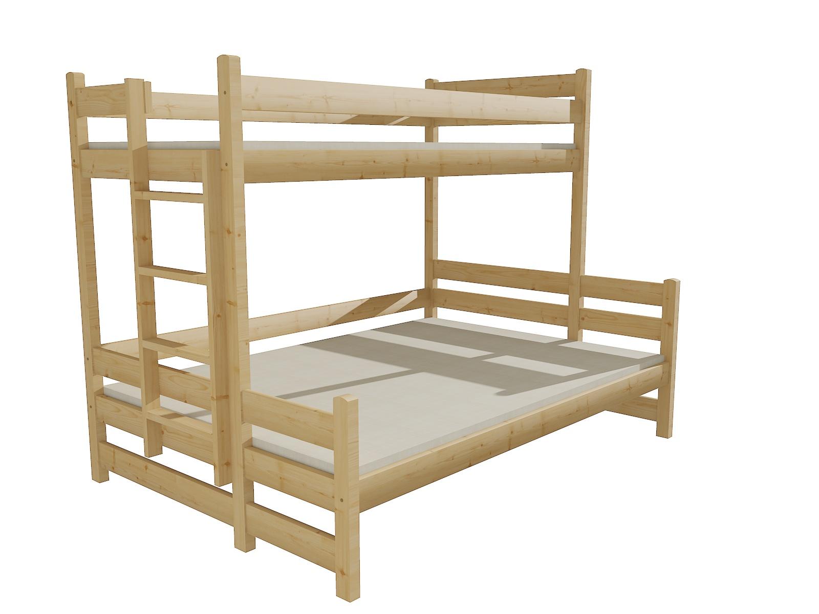 Patrová postel s rozšířeným spodním lůžkem PPS 003