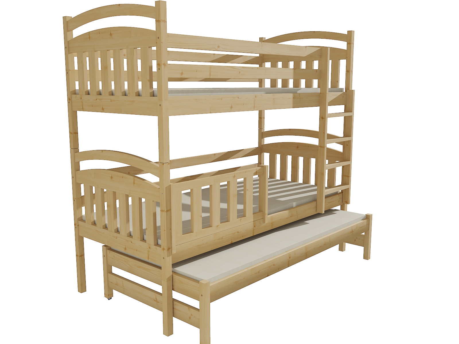 Patrová postel s výsuvnou přistýlkou PPV 001