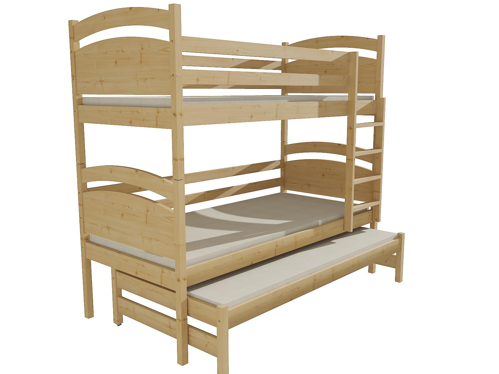 Patrová postel s výsuvnou přistýlkou PPV 002